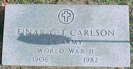 CARLSON, EINAR G.T.  (WWII MARKER) - Dixon County, Nebraska | EINAR G.T.  (WWII MARKER) CARLSON - Nebraska Gravestone Photos