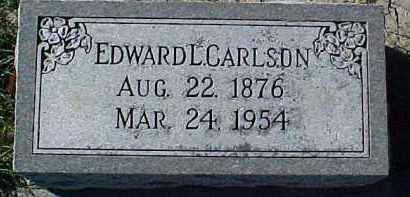 CARLSON, EDWARD L. - Dixon County, Nebraska | EDWARD L. CARLSON - Nebraska Gravestone Photos