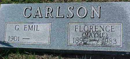 CARLSON, FLORENCE - Dixon County, Nebraska | FLORENCE CARLSON - Nebraska Gravestone Photos