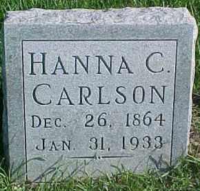 CARLSON, HANNA C. - Dixon County, Nebraska | HANNA C. CARLSON - Nebraska Gravestone Photos