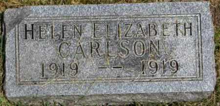 CARLSON, HELEN ELIZABETH - Dixon County, Nebraska | HELEN ELIZABETH CARLSON - Nebraska Gravestone Photos