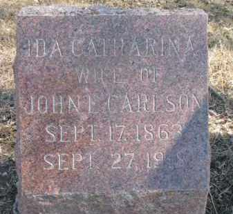 CARLSON, IDA CATHARINA - Dixon County, Nebraska | IDA CATHARINA CARLSON - Nebraska Gravestone Photos