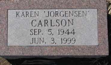 JORGENSEN CARLSON, KAREN - Dixon County, Nebraska | KAREN JORGENSEN CARLSON - Nebraska Gravestone Photos