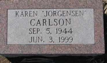 CARLSON, KAREN - Dixon County, Nebraska   KAREN CARLSON - Nebraska Gravestone Photos