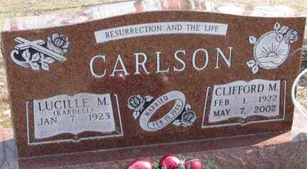 KARDELL CARLSON, LUCILLE M. - Dixon County, Nebraska   LUCILLE M. KARDELL CARLSON - Nebraska Gravestone Photos