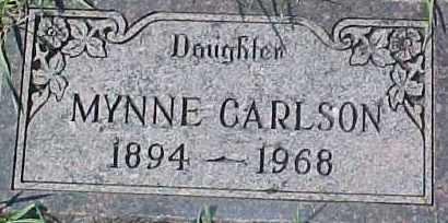 CARLSON, MYNNE - Dixon County, Nebraska   MYNNE CARLSON - Nebraska Gravestone Photos