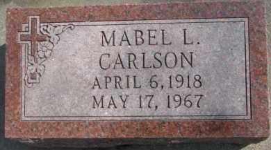 CARLSON, MABEL L. - Dixon County, Nebraska | MABEL L. CARLSON - Nebraska Gravestone Photos