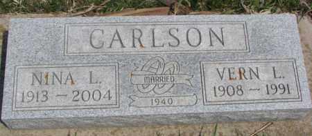 CARLSON, NINA L. - Dixon County, Nebraska | NINA L. CARLSON - Nebraska Gravestone Photos