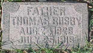 BUSBY, THOMAS SR. - Dixon County, Nebraska   THOMAS SR. BUSBY - Nebraska Gravestone Photos