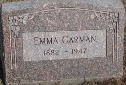 CARMAN, EMMA - Dixon County, Nebraska   EMMA CARMAN - Nebraska Gravestone Photos