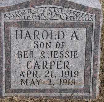 CARPER, HAROLD A. - Dixon County, Nebraska | HAROLD A. CARPER - Nebraska Gravestone Photos