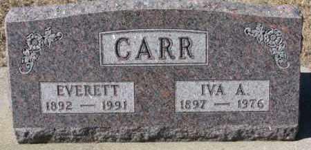 CARR, IVA A. - Dixon County, Nebraska   IVA A. CARR - Nebraska Gravestone Photos