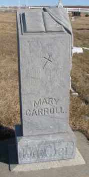 CARROLL, MARY - Dixon County, Nebraska | MARY CARROLL - Nebraska Gravestone Photos