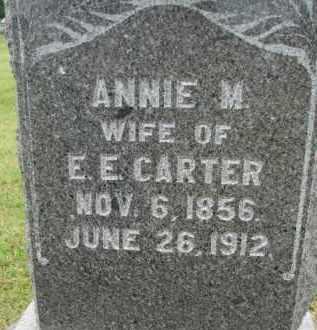 CARTER, ANNIE M. - Dixon County, Nebraska | ANNIE M. CARTER - Nebraska Gravestone Photos