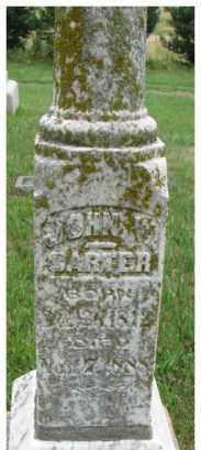 CARTER, JOHN W. - Dixon County, Nebraska   JOHN W. CARTER - Nebraska Gravestone Photos