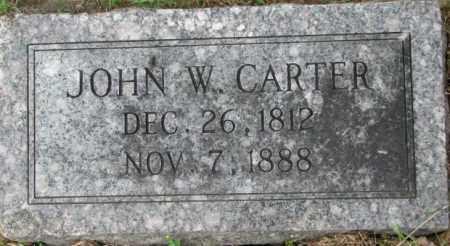 CARTER, JOHN W. - Dixon County, Nebraska | JOHN W. CARTER - Nebraska Gravestone Photos