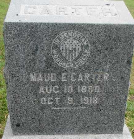 CARTER, MAUD E. - Dixon County, Nebraska   MAUD E. CARTER - Nebraska Gravestone Photos