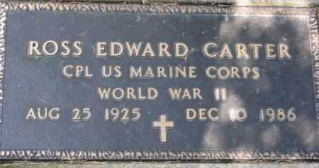 CARTER, ROSS EDWARD (WW II MARKER) - Dixon County, Nebraska | ROSS EDWARD (WW II MARKER) CARTER - Nebraska Gravestone Photos