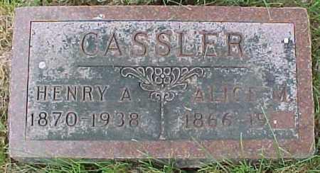 BARTO CASSLER, ALICE (MARTHA) - Dixon County, Nebraska | ALICE (MARTHA) BARTO CASSLER - Nebraska Gravestone Photos