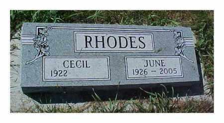 CHINN JUNE, RHODES - Dixon County, Nebraska | RHODES CHINN JUNE - Nebraska Gravestone Photos