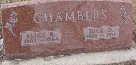 CHAMBERS, ALICE H. - Dixon County, Nebraska | ALICE H. CHAMBERS - Nebraska Gravestone Photos