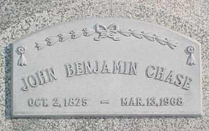 CHASE, JOHN BENJAMIN - Dixon County, Nebraska   JOHN BENJAMIN CHASE - Nebraska Gravestone Photos