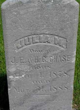 CHASE, JULIA M. - Dixon County, Nebraska | JULIA M. CHASE - Nebraska Gravestone Photos