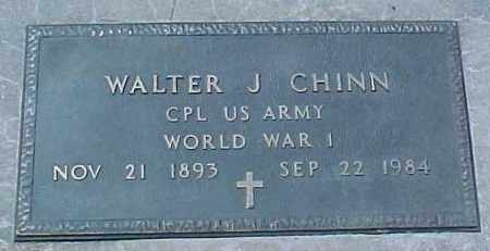 CHINN, WALTER J, MILITARY MARKER - Dixon County, Nebraska | MILITARY MARKER CHINN, WALTER J - Nebraska Gravestone Photos
