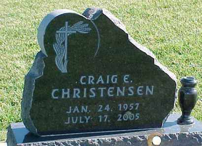 CHRISTENSEN, CRAIG E. - Dixon County, Nebraska   CRAIG E. CHRISTENSEN - Nebraska Gravestone Photos