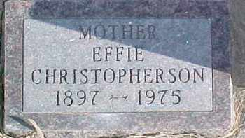 CHRISTOPHERSON, EFFIE - Dixon County, Nebraska | EFFIE CHRISTOPHERSON - Nebraska Gravestone Photos