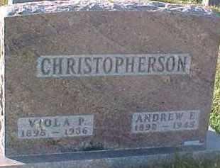 CHRISTOPHERSON, ANDREW E. - Dixon County, Nebraska | ANDREW E. CHRISTOPHERSON - Nebraska Gravestone Photos