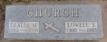 CHURCH, DEALIA M. - Dixon County, Nebraska   DEALIA M. CHURCH - Nebraska Gravestone Photos