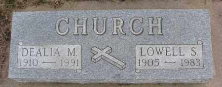 CHURCH, LOWELL S. - Dixon County, Nebraska | LOWELL S. CHURCH - Nebraska Gravestone Photos