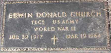 CHURCH, EDWIN DONALD (WWII MARKER) - Dixon County, Nebraska | EDWIN DONALD (WWII MARKER) CHURCH - Nebraska Gravestone Photos