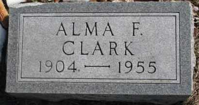 CLARK, ALMA F. - Dixon County, Nebraska | ALMA F. CLARK - Nebraska Gravestone Photos