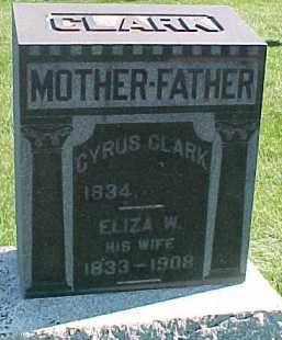 CLARK, CYRUS - Dixon County, Nebraska | CYRUS CLARK - Nebraska Gravestone Photos