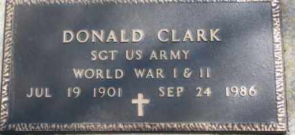 CLARK, DONALD (MILITARY MARKER) - Dixon County, Nebraska | DONALD (MILITARY MARKER) CLARK - Nebraska Gravestone Photos
