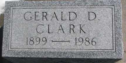 CLARK, GERALD D. - Dixon County, Nebraska | GERALD D. CLARK - Nebraska Gravestone Photos
