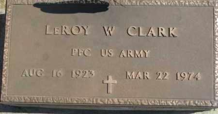 CLARK, LEROY W. (MILITARY MARKER) - Dixon County, Nebraska   LEROY W. (MILITARY MARKER) CLARK - Nebraska Gravestone Photos