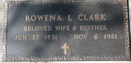 CLARK, ROWENA L. - Dixon County, Nebraska | ROWENA L. CLARK - Nebraska Gravestone Photos