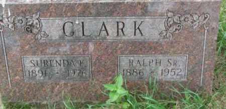 CLARK, SURENDA F. - Dixon County, Nebraska | SURENDA F. CLARK - Nebraska Gravestone Photos