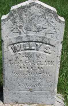 CLARK, WILLY S. - Dixon County, Nebraska   WILLY S. CLARK - Nebraska Gravestone Photos