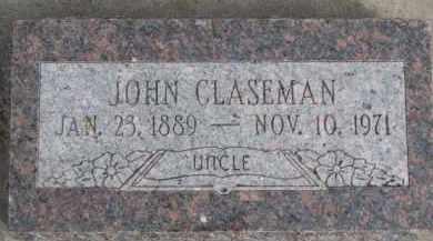 CLASEMAN, JOHN - Dixon County, Nebraska   JOHN CLASEMAN - Nebraska Gravestone Photos