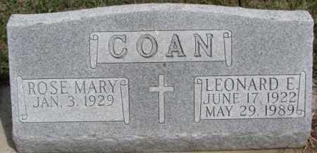 COAN, ROSE MARY - Dixon County, Nebraska | ROSE MARY COAN - Nebraska Gravestone Photos