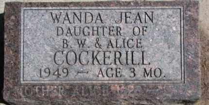 COCKERILL, WANDA JEAN - Dixon County, Nebraska | WANDA JEAN COCKERILL - Nebraska Gravestone Photos