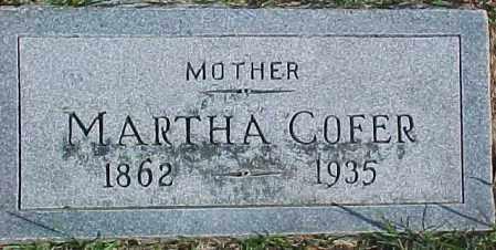COFER, MARTHA - Dixon County, Nebraska | MARTHA COFER - Nebraska Gravestone Photos