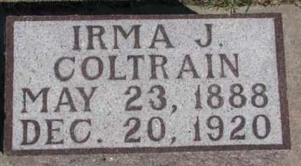 COLTRAIN, IRMA J. - Dixon County, Nebraska   IRMA J. COLTRAIN - Nebraska Gravestone Photos