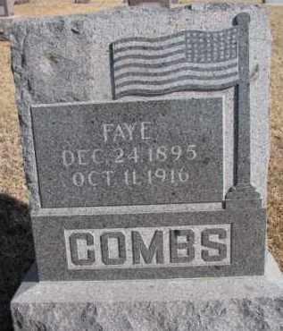 COMBS, FAYE - Dixon County, Nebraska | FAYE COMBS - Nebraska Gravestone Photos