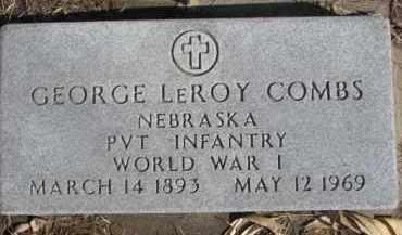 COMBS, GEORGE LEROY - Dixon County, Nebraska   GEORGE LEROY COMBS - Nebraska Gravestone Photos