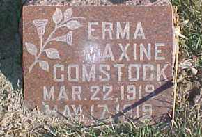 COMSTOCK, ERMA MAXINE - Dixon County, Nebraska | ERMA MAXINE COMSTOCK - Nebraska Gravestone Photos
